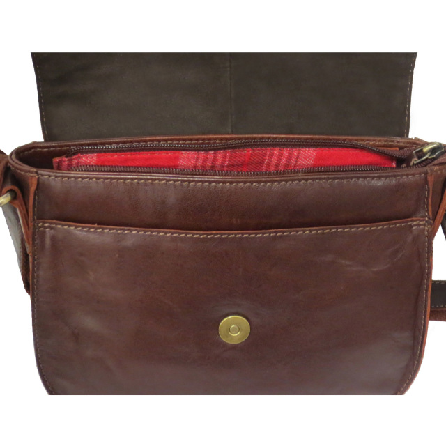 Rowallan Women/'s Brown Leather Shoulder Bag Small