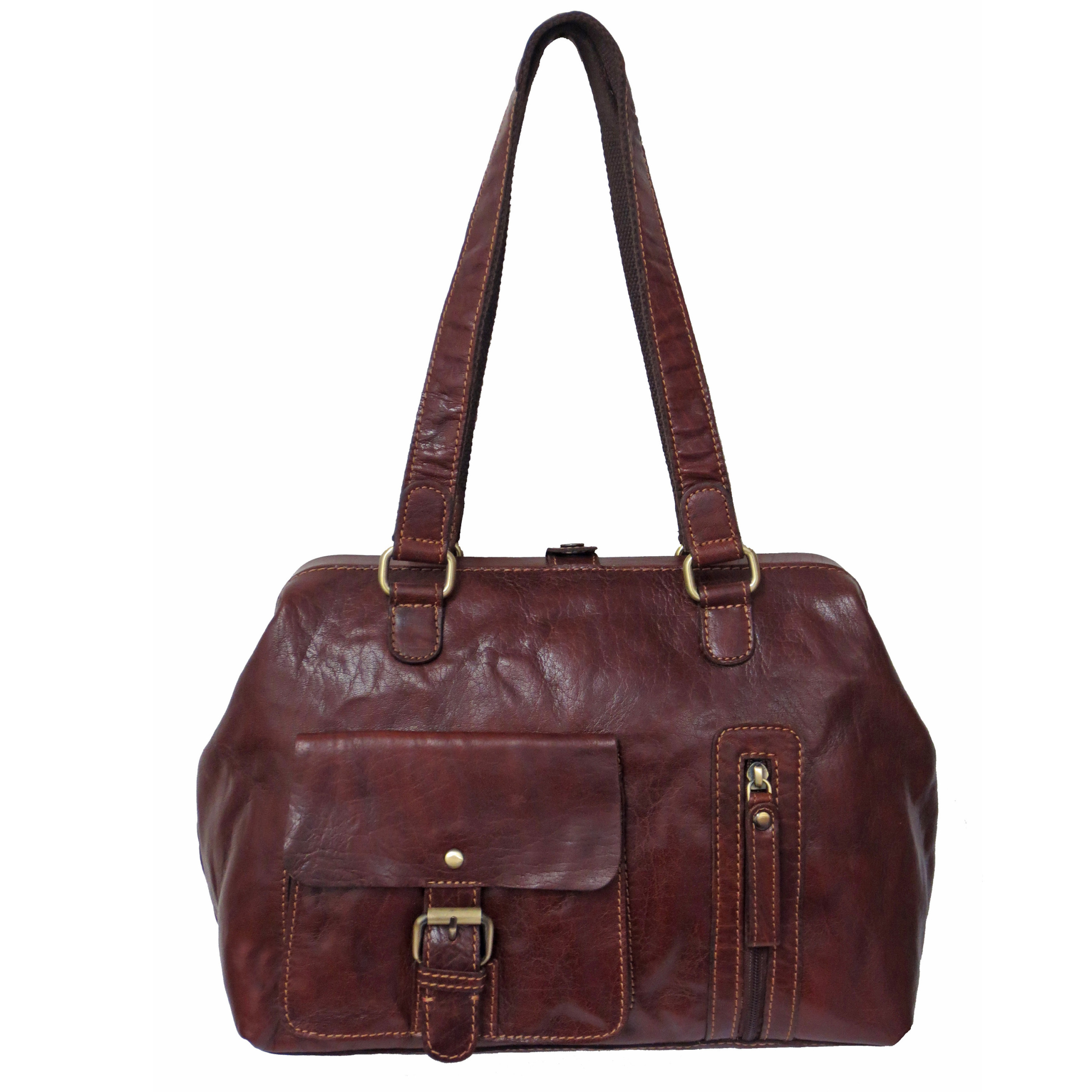 4fc3133bb9 Rowallan Women s Cognac Brown Leather Shoulder Bag