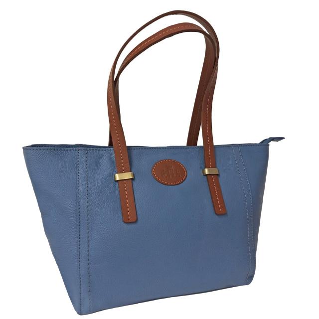 7bfdf401e0 40% Off Rowallan Women s Light Blue and Tan Leather Shopper